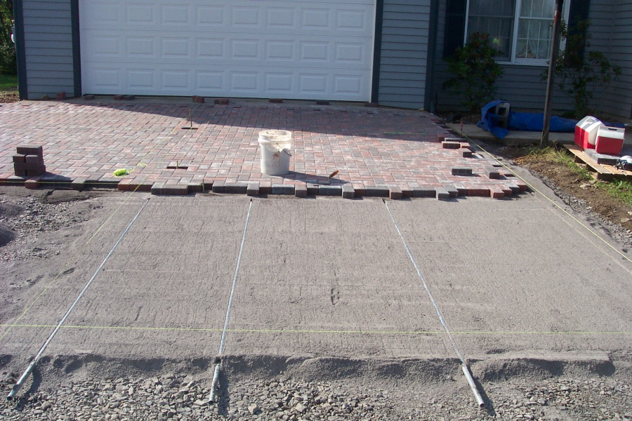 Paver Driveway 4 Level Green Landscaping And Design