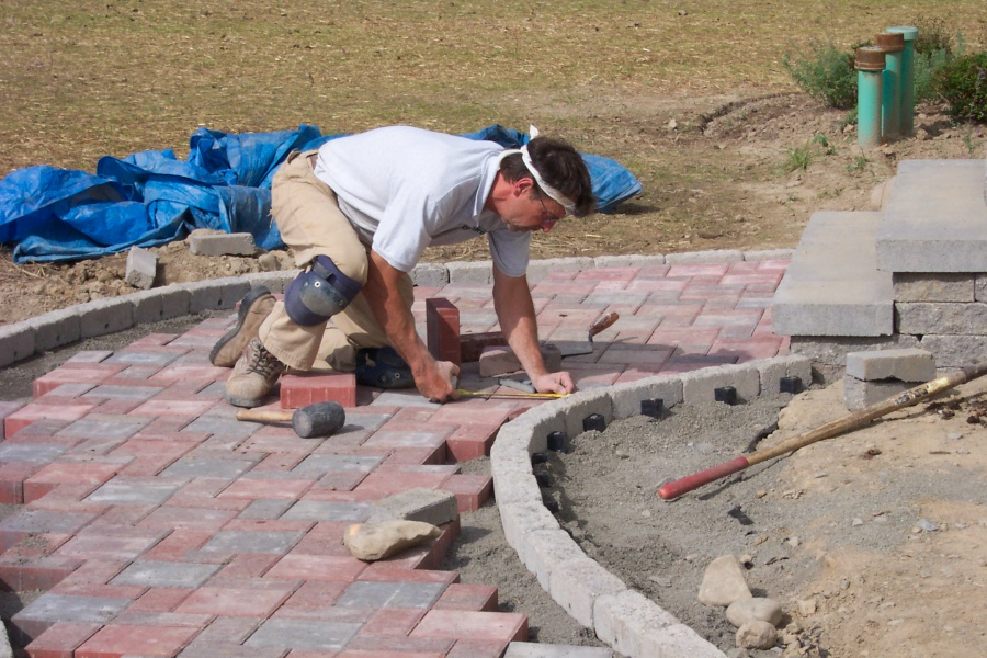 landscaping with pavers - tompkins county, ny | level green