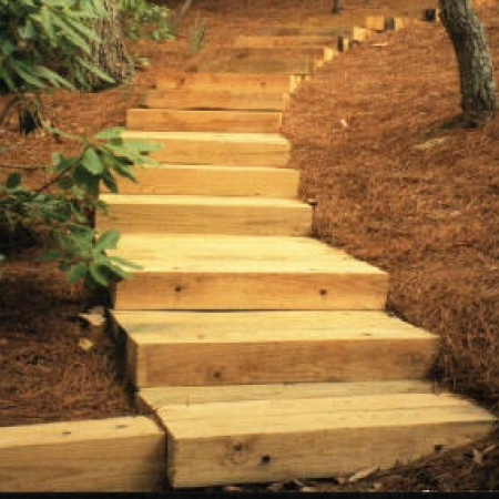 Timber Construction For Steps Retaining Walls Flower
