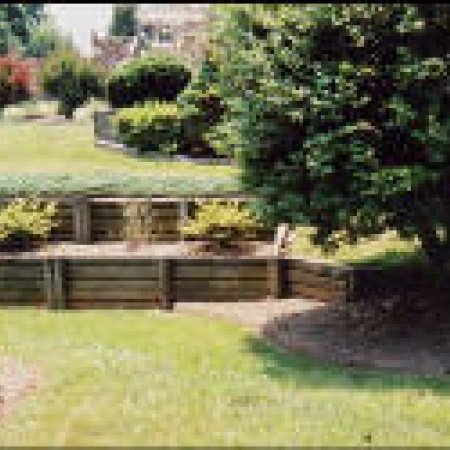 view larger image - Timber Retaining Wall Designs